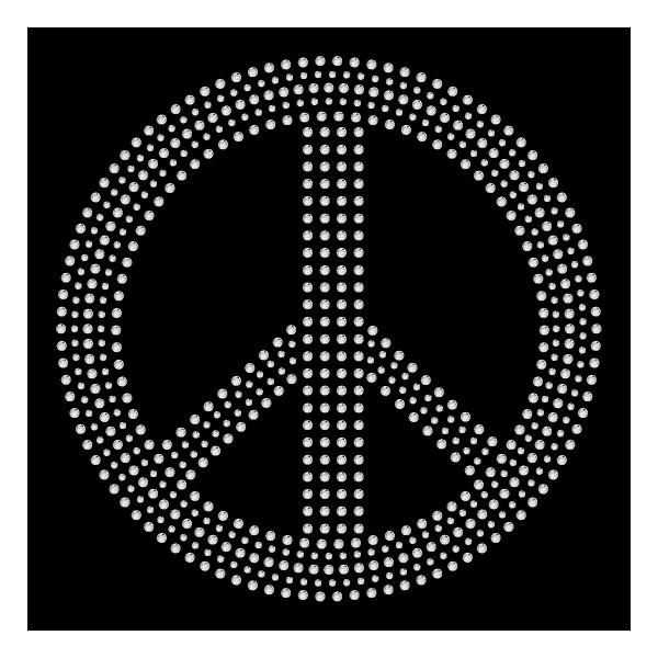 Strassmotiv - Peace 15cm