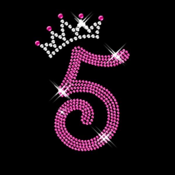 Strassmotiv - Pink Nummer 5 mit Krone