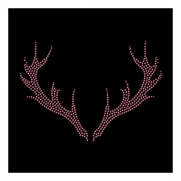Strassmotiv - Geweih pink