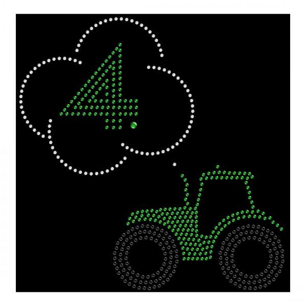 Strassmotiv - Traktor mit 4. Geburtstag