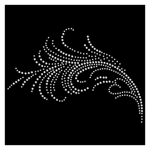 Strassmotiv - Liebliche Feder crystal
