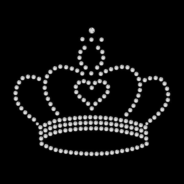 Strassmotiv - Krone mit Herz crystal