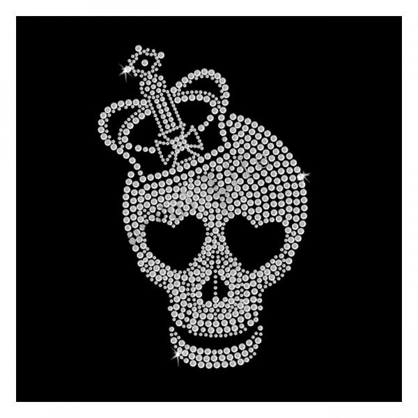 Strassmotiv Skull Königin Totenkopf zum Aufbügeln