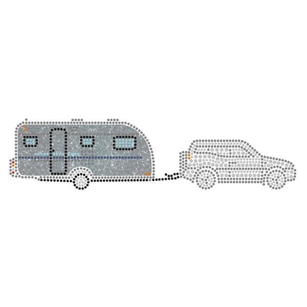 Wohnwagen mit Kfz