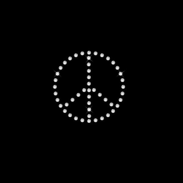 Strassmotiv - Peace 1-reihig 5 x 5 cm