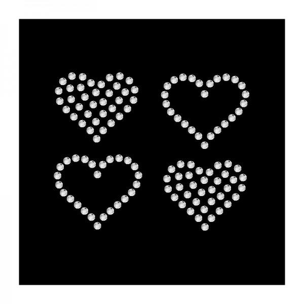 Strassmotiv - 4 kleine Herzen