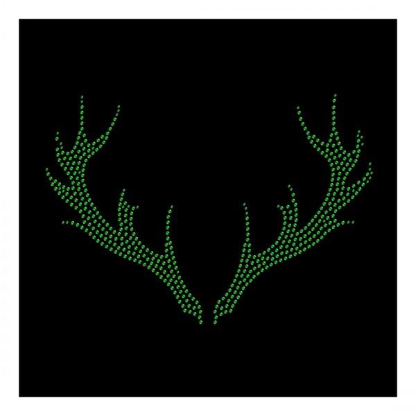 Strassmotiv - Geweih emerald_grün