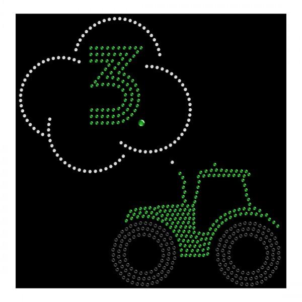 Strassmotiv - Traktor mit 3. Geburtstag