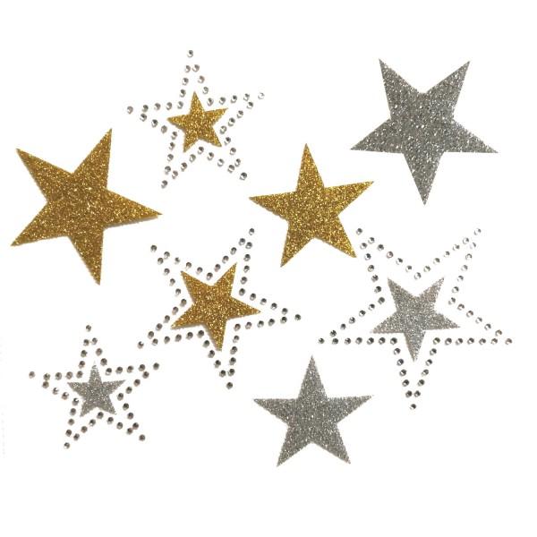 Motiv Sternenhimmel mit Glitter