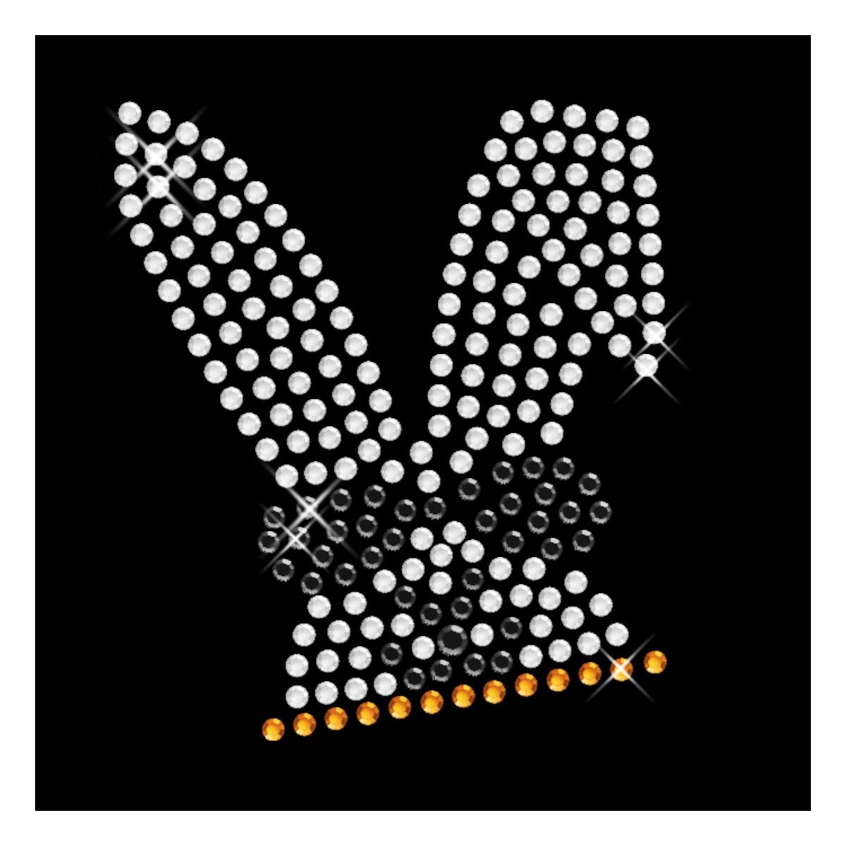 Strasselse Strassmotiv kleines Doppel Herz 3,5 x 2,4 cm hotfix Strassapplikation zum Aufb/ügeln aus Strasssteinen