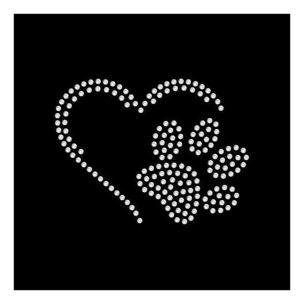 Strassmotiv - kleine Pfote im Herz Variation