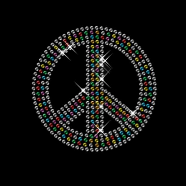 Strassmotiv - Peace Zeichen bunt