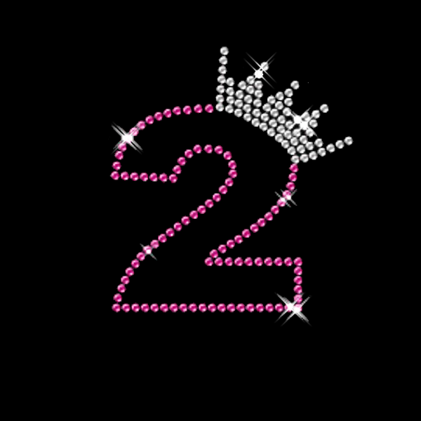 Nummer 2 mit Krone