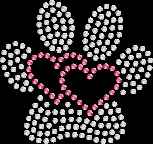 Strassmotiv - Herzpfötchen