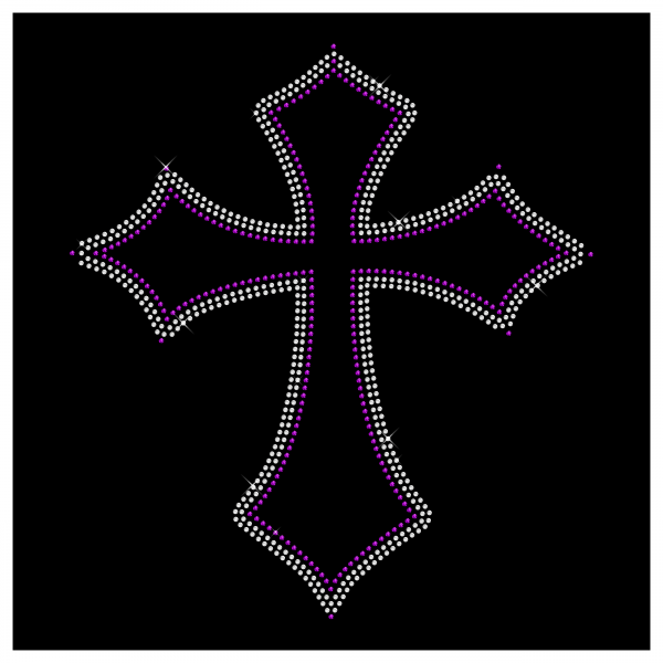 Strassmotiv Kreuz- Strassbild Größe 248 x 272 mm Kreuz2
