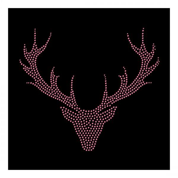 Strassmotiv - Hirschkopf-Geweih pink