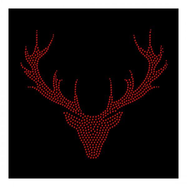 Strassmotiv - Hirschkopf-Geweih rot