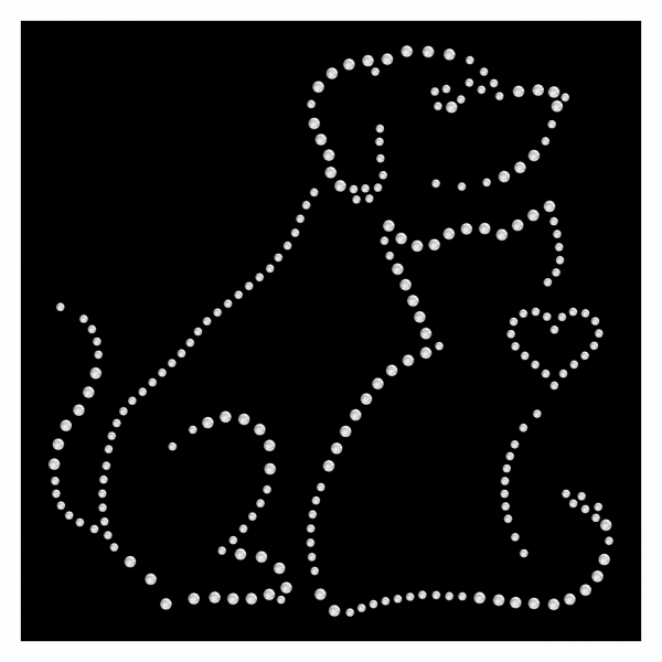 Strassmotiv - Hund und Katzen Silhouette