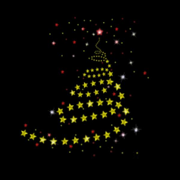Weihnachtsbaum mit Sternen Strass & Nailhead