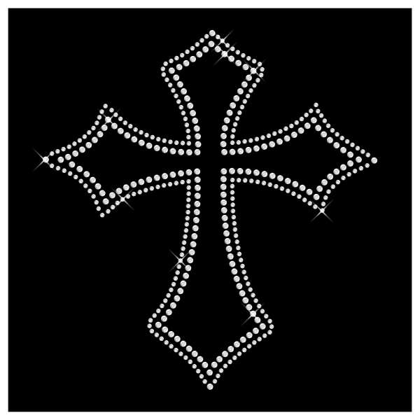 Strassmotiv Kreuz- Strassbild Größe 207 x 222 mm Kreuz1
