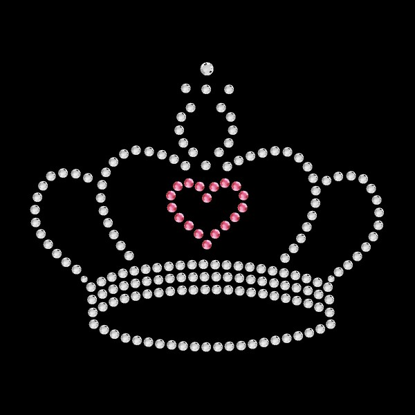 Strassmotiv - Krone mit Herz pink