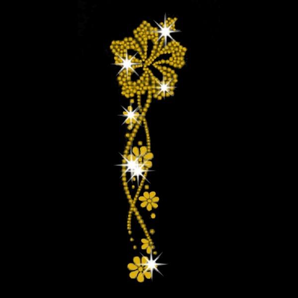 Blumen-Ornament gold-farbig