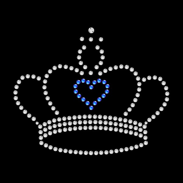 Strassmotiv - Krone mit Herz blau