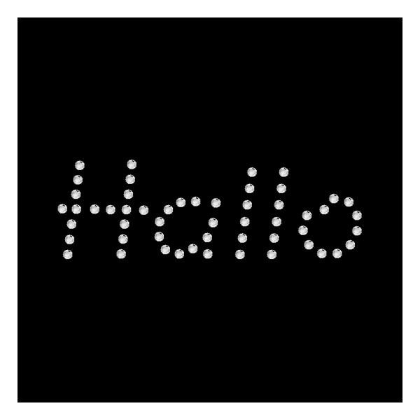 Strassmotiv - Hallo