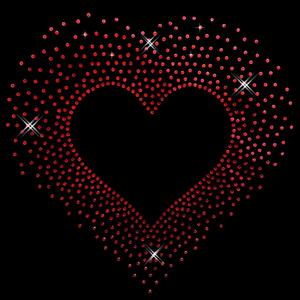 grosses rotes Herz | Sterne und Herzen | Glitzer Menü | Strasselse