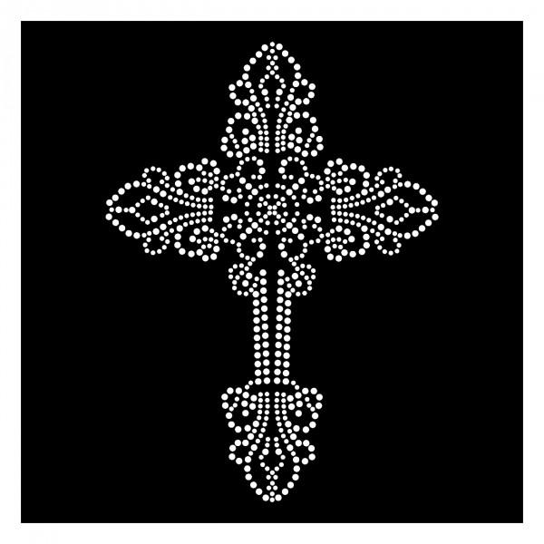 Strassmotiv - Kreuz Ornament zum Aufbügeln