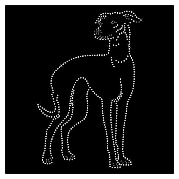 Strassmotiv Windhund - Größe 133 x 202 mm