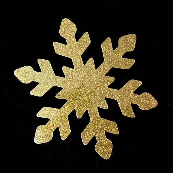 GLITTER Schneeflocke gold