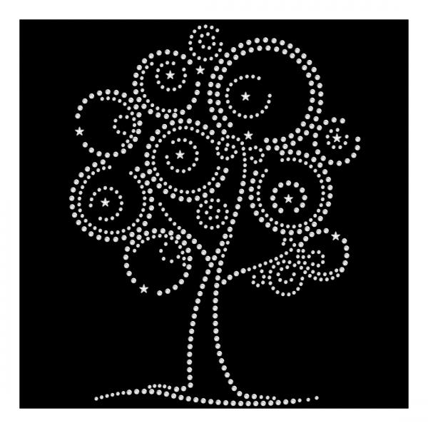 Strassmotiv - Baum mit Sternen
