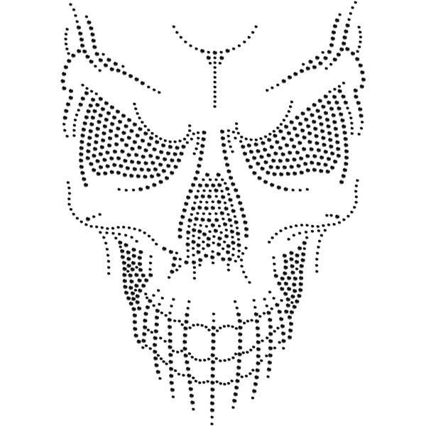 Strassmotiv - Skull Face schwarz