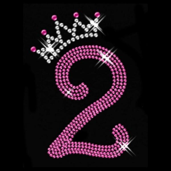 Pink Nummer 2 mit Krone