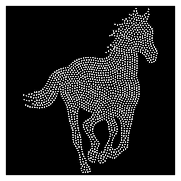 Strassmotiv Pferd im Lauf 22x27 cm